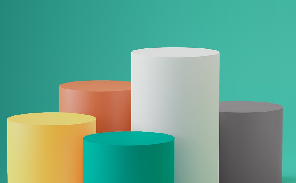Image of 3D tube charts on a teal background