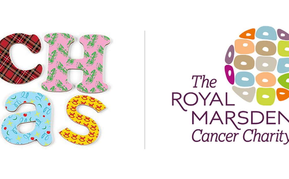 Logos for Children's Hospices across Scotland and The Royal Marsden Cancer Charity