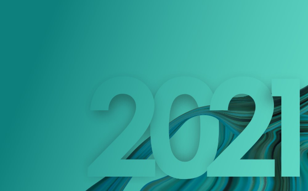 Image for the 2021 Webinar series in teal